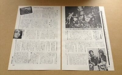 1975 The New York Dolls 2pg 3 photo JAPAN mag article / clippings cuttings