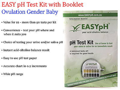 EASYpH Easy pH Test Kit  with Informative Booklet (Ovulation Gender Baby)