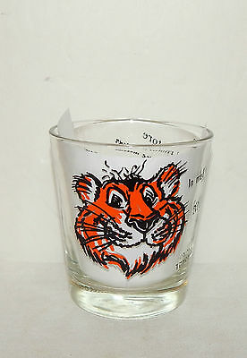 TONY THE TIGER, ESSO, 1960's GLASS,  PUT A TIGER IN YOUR TANK IN 8 LANGUAGES