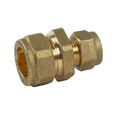 15mm x 8mm Compression Reducer Coupling Brass (x1)