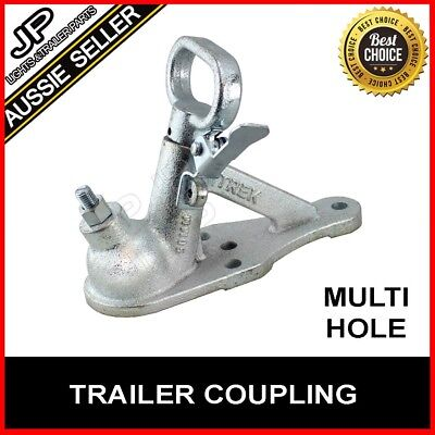 Quick Release Coupling Hitch 3 Hole Zinc 50Mm 2000Kg Rated Trailer Part Caravan