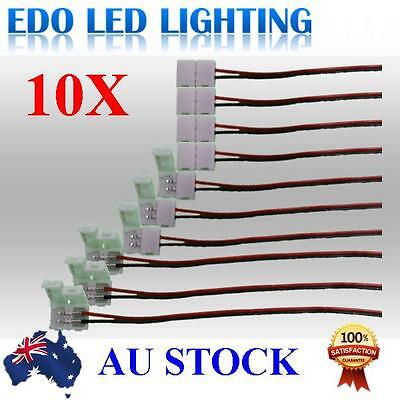 10pcs LED Strips 10mm PCB board with wire Connector Adapter for 5050 LED Strip