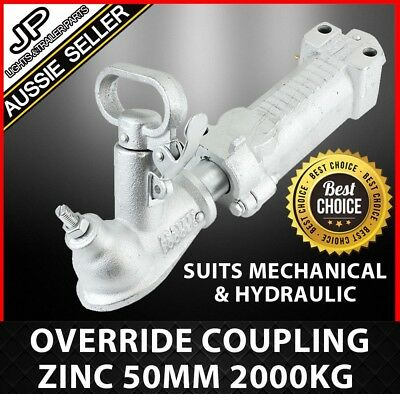 Override Coupling Zinc 50Mm 2000Kg Rated Trailer Part Mechanical Or Hydraulic