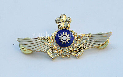 Chinese Army Aviation Flight Wings Metal Badge Gold-33167