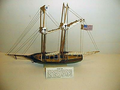 FLYING FISH FISHING SCHOONER SCALE MODEL EXCELLENT CONDITION CUSTOM BUILT