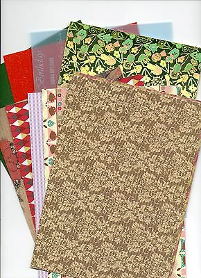 Assortment of A5 Paper/Card Patterned/Embossed/Vellum u choose pack size