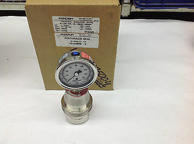 """Ashcroft 50-500-SS-02T Diaphragm Seal with 25-100-SWL-160 Duralife 2.5"""" Gauge"""