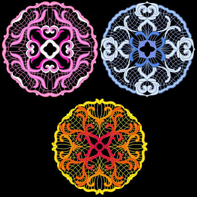 Fancy Circles - 30 Machine Embroidery Designs (Azeb)