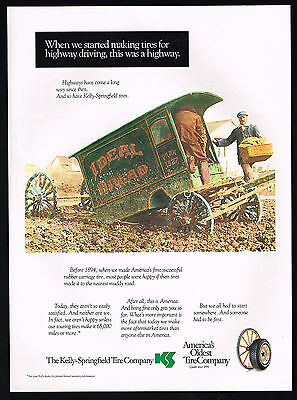 1993 Kelly Springfield Tire 1894 Carriage Ideal Bread Wagon Print Ad