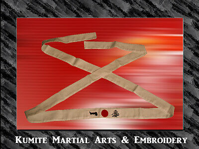 AFRO SAMURAI EMBROIDERED COTTON NUMBER ONE HEADBAND Apparel and Fabric