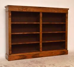 Re-Constructed Antique Victorian Walnut Open Bookcase - Great Proportions!