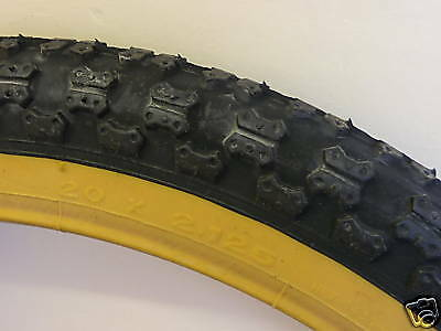 Retro Old School 20X2.125 Comp 3 Amber Wall Bmx/Cycle Tyre Brand New