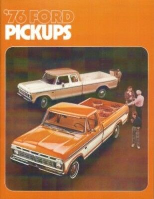 FORD 1976 TRUCK Sales Brochure 76 Pick Up