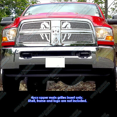 Fits 2010-2012 Dodge Ram 2500/3500 Symbolic Stainless Steel Mesh Grille Grill