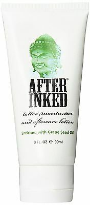 After Inked for New Tattoo AfterCare Lotion Healing Moisturiser Cream Balm VEGAN
