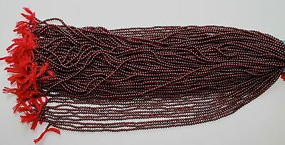 B2427 One Strand Quality Genuine 3Mm Deep Red Garnet Beads Loose Jewelry Craft