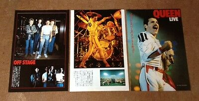 1983 Queen 4pg 9 photo in JAPAN mag feature / clippings cuttings Freddie Mercury