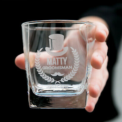 Personalised Engraved Wedding Favour Scotch Whiskey Glass - Best Man, Groomsman