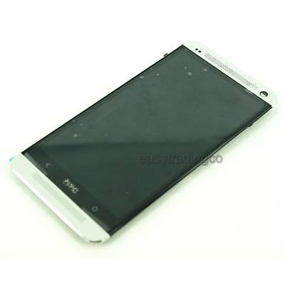 OEM Full LCD Display Touch Screen Assembly for HTC One M7 801e + Frame