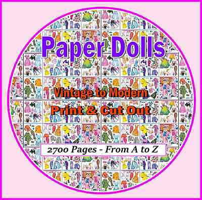 2,700 plus Printable Paper Doll Pages on CD - Also Betsy McCall 1951-1961