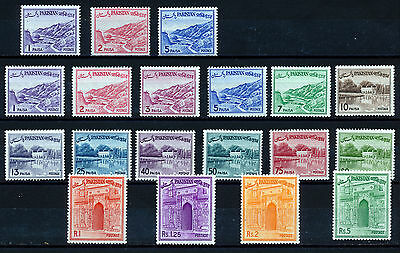 PAKISTAN 1961-63 DEFINITIVES SG128/144b BLOCKS OF 4 MNH