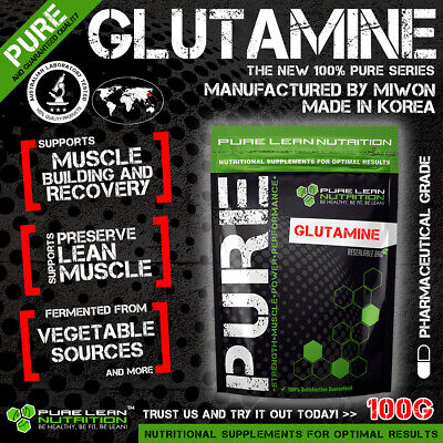 L-Glutamine 100G Micronised Highest Quality  * Muscle Recovery * Bcaa