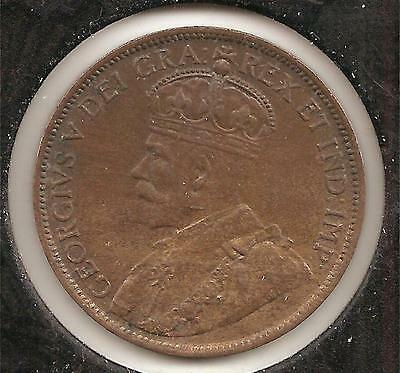 1913 ABOUT UNCIRCULATED Canadian Large Cent #2 (die crack obverse)