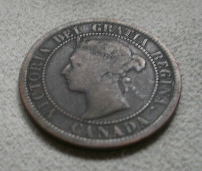 1891 Canada Canadian large cents one cent coin penny