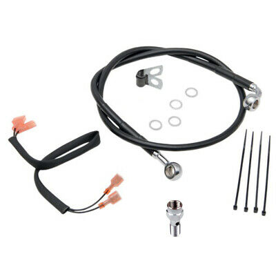 Rear Black Vinyl Stainless Brake Line 1989-2004 Harley Softail FXSTB/C/S
