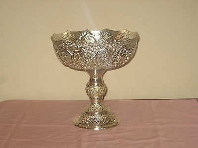 Persia  Silver Tall Serving Bowl 1245 Grams.