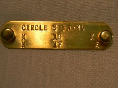 Pet supplies/Personalized I.D. Brass name plate, dog tag for collar, puppy tag