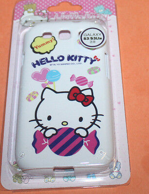FOR SAMSUNG GALAXY S3 i9300 HELLO KITTY RED BOW SWEET HARD MATTE GUMMY SKIN CASE