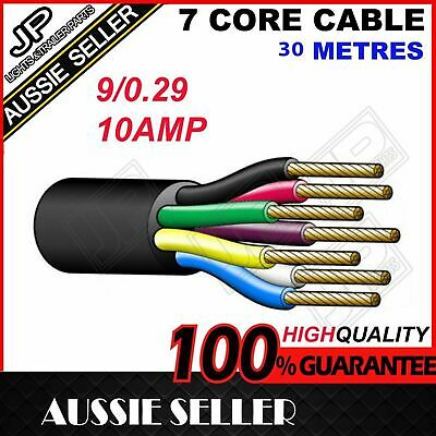 30M X 7 Core Trailer Cable Wire Boat Truck Caravan Car Wiring Led Light Roll
