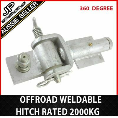 Trailer Hitch Off Road 360 Coupling Zinc Rated 2000Kg Rated Weldable Weld On Ute