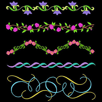 Fancy Borders #1 - 30 Machine Embroidery Designs (Azeb)