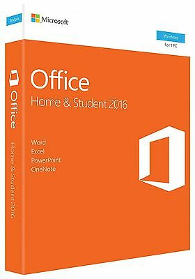 Microsoft Office Home and Student 2016 Retail 1 PC Word Excel PowerPoint OneNote