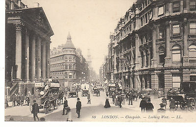 Cpa London Cheapside Looking West
