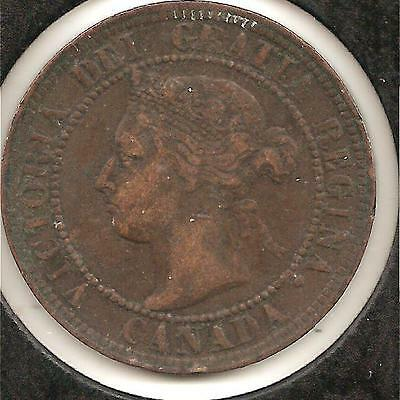 1894 VERY FINE Canadian Large Cent #3 (corrosion reverse)