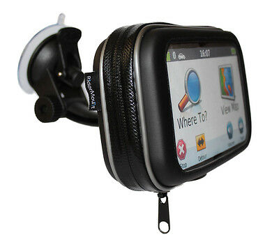 "GPS 5"" SATNAV CASE MOTORCYCLE MOTORBIKE with SUCTION MOUNT WATERPROOF 5 INCH"