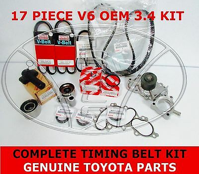 New Genuine Toyota 3.4 V6 5Vzfe Water Pump Timing Belt Kit 17 Pcs 4Runner Tacoma