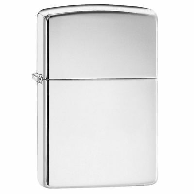 Zippo Highly Polish Chrome Windproof Lighter Z250 Supplied New & Boxed Free P&P