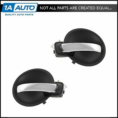 Door Handle Inner Gray & Chrome Front or Rear Pair Set for Charger Magnum New