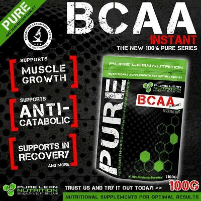 Bcaa Powder 100G Instantised Unflavoured Branch Chain Amino Acids Intra Workout