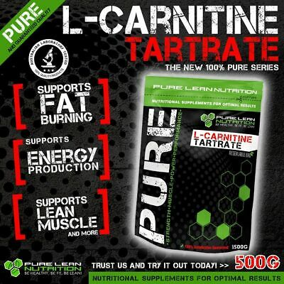 L Carnitine Tartrate 500G Pure Premium Grade * Weight Loss * Fat Burner * Energy