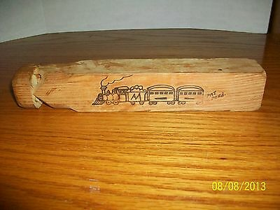 Vintage wooden Train Whistle