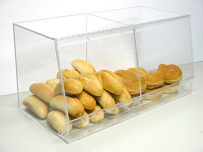 Bulk Bread Storage display case containers deli bakery sandwich Pastry Donut
