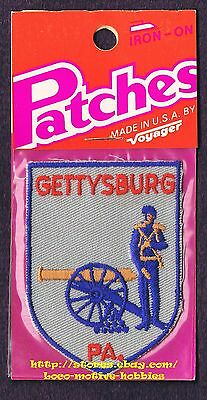 LMH PATCH Badge  GETTYSBURG  Civil War CANNON American Blue UNION SOLDIER Yankee