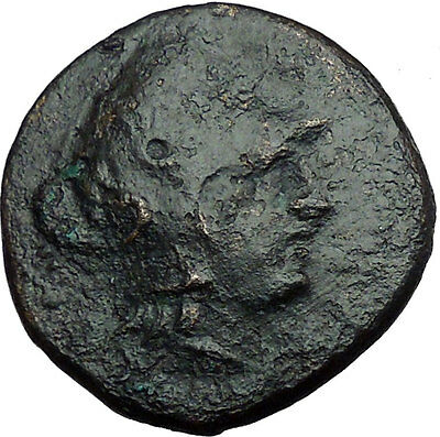 LYSIMACHOS Macedonian King 305BC Ancient Greek Coin Trophy Tropaion  i33826
