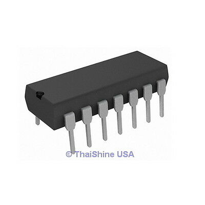 5 x 74LS74 7474 Dual D Flip Flop IC - TEXAS INSTRUMENTS USA SELLER Free Shipping