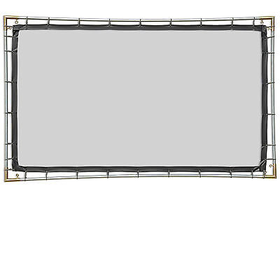 Carl's Blackout Cloth, 16:9, 5x9, Hanging Projector Screen Kit, White